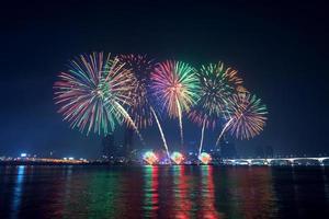 vuurwerkfestival in Korea. foto
