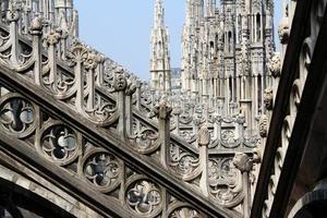 plein van de kathedraal van milaan, duomo di milano, italië foto