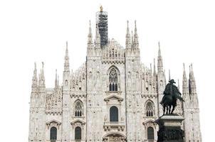 kathedraal van Milaan geïsoleerd