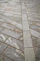 baksteen in casorate sempione straat Lombardije Italië foto