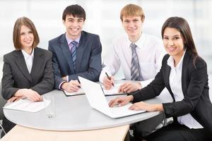 groep van mensen uit het bedrijfsleven foto