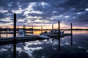 Bristol Harbor zonsondergang