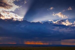 zonsondergang in Afrika foto