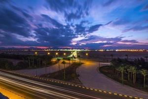 zonsondergang over Hurghada foto