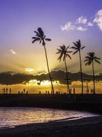 zonsondergang in Hawaï foto