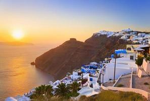 Santorini zonsondergang - Griekenland foto