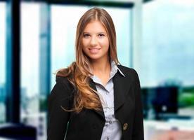 gelukkig vrouwelijke manager foto