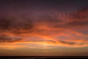 roze paarse zonsondergang foto