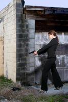 vrouwelijke detective foto