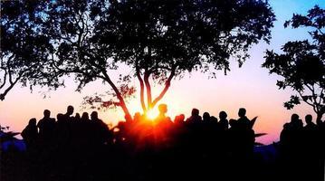 zonsondergang punt india foto