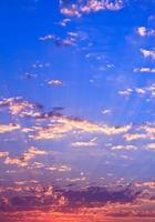 zonsondergang hemelachtergrond foto