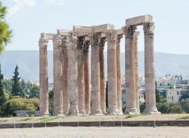 tempel van de Olympische Zeus (Athene, Griekenland) foto