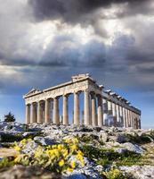 Akropolis met parthenon tempel in Athene, Griekenland foto