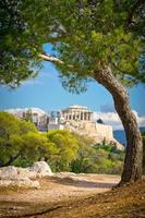prachtig uitzicht op de oude Akropolis, Athene, Griekenland foto
