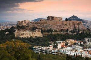 acropolis, Athene. foto