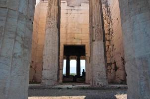 interieur van de tempel van hephaestus in agora. Athene, Griekenland. foto