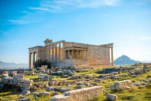 erechtheum tempel in de Akropolis foto