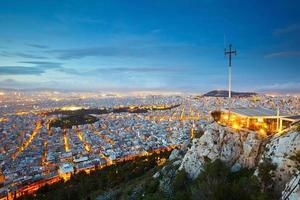 lycabettus heuvel in Athene foto