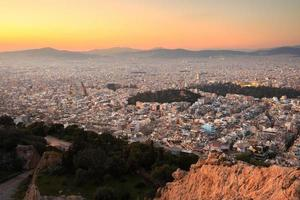 Athene vanaf de Lycabettus-heuvel. foto