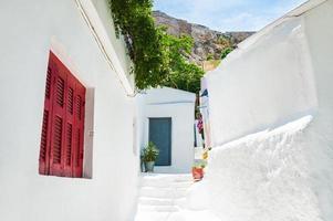 mooie straat in Athene, Griekenland. foto