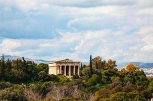 tempel van hephaestus in Athene foto
