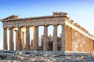het partenon in Athene, Griekenland foto