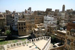 sana'a's stadsbeeld foto