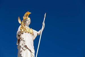 athena, godin van de Griekse mythologie foto