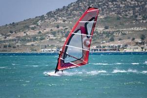 windsurfen in Alacati, Cesme, Turkije foto