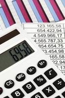 rekenmachine en cijfers foto