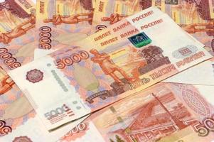 Russisch contant geld foto