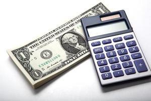 boekhouding in het geld foto