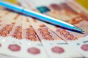 Russisch geld en pen foto