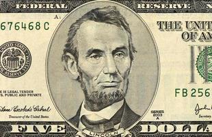 vijf dollar biljet foto