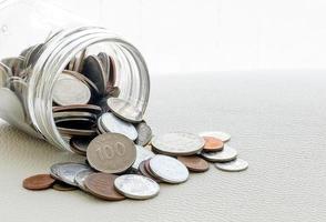 morsen van munten foto
