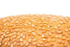 broodje met sesam macro foto