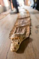 vulling slang op tafel. foto