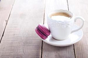 paarse macaron foto