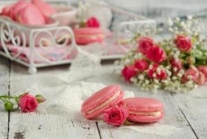 vanille macarons foto
