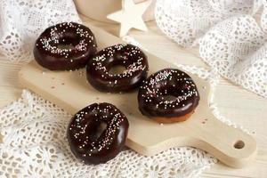 verse zelfgemaakte donuts foto