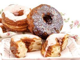 gebakken donut foto