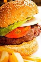 klassieke hamburgersandwich