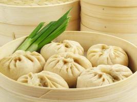 gestoomde Chinese broodjes foto