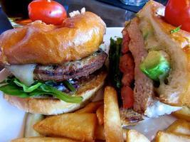 hamburger close-up foto