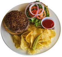 allemaal Amerikaanse hamburger foto