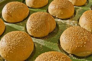 hamburgerbroodjes foto