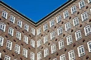 historisch gebouw gevel in hamburg foto