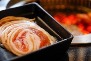 Yakiniku van varkensvlees. foto