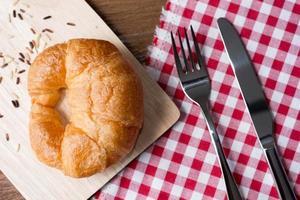 verse zelfgemaakte croissants foto