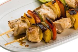 Thaise varkensvleesbarbecue foto